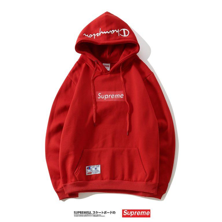 gran descuento 5e256 be14a SUPREME x CHAMPION sudadera con capucha roja
