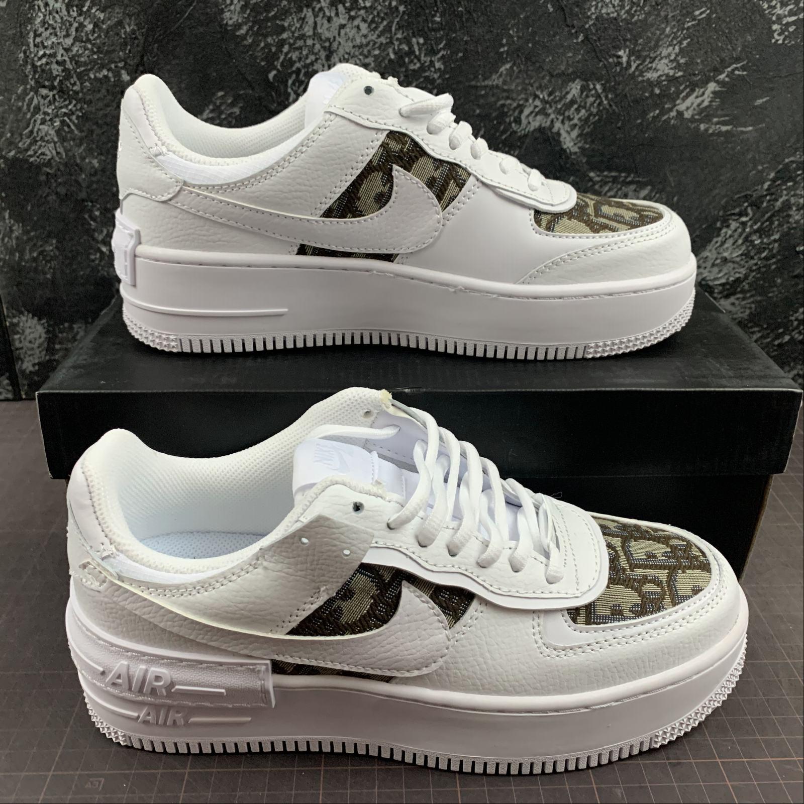 Nike Air Force 1 Shadow White Khaki Footzonespain Nike air force 1 low. nike air force 1 shadow white khaki