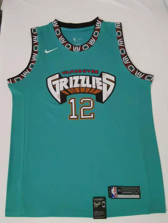 tejido de punto cl/ásico Camiseta de baloncesto GLFBA # 12 Ja Morant Vancouver Grizzlies-pantalones cortos de baloncesto